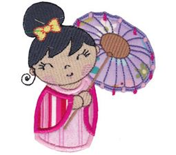 Kokeshi Dolls Applique 8