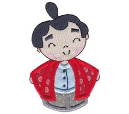 Kokeshi Dolls Boys Applique 12