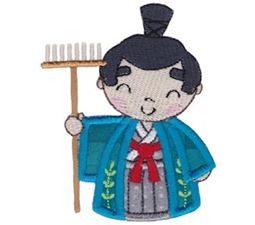 Kokeshi Dolls Boys Applique 9