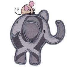 Little Elephant Applique 4