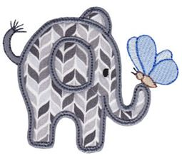 Little Elephant Applique 5