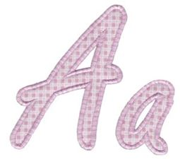 Lovely Applique Alphabet A