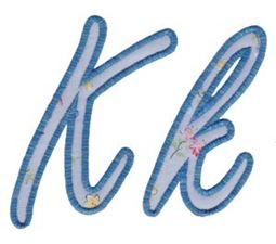 Lovely Applique Alphabet k