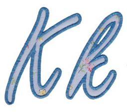 Lovely Applique Alphabet k