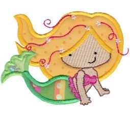 Magical Mermaids Applique 11