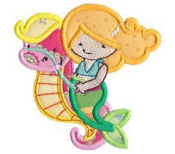 Magical Mermaids Applique 12