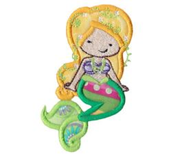 Magical Mermaids Applique 6