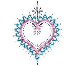 Mehndi Hearts 11 5x7 6x10