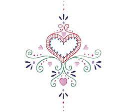 Mehndi Hearts 12 5x7 6x10