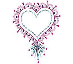 Mehndi Hearts 13 5x7 6x10