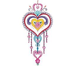 Mehndi Hearts 2 5x7 6x10