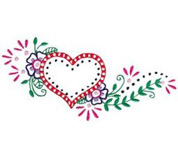 Mehndi Hearts 5 5x7 6x10