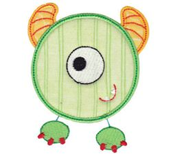 Monster Mash Numbers Applique 0