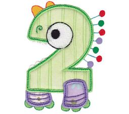 Monster Mash Numbers Applique 2