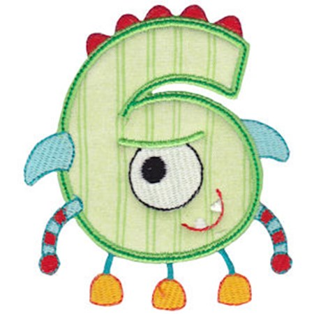 Monster Mash Numbers Applique 6