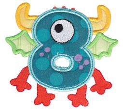 Monster Mash Numbers Applique 8