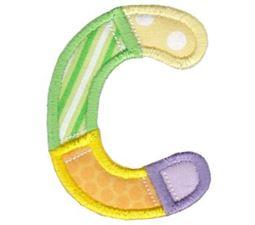 Patches Alphabet Applique C