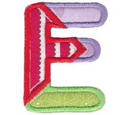 Patches Alphabet Applique E