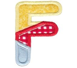 Patches Alphabet Applique F