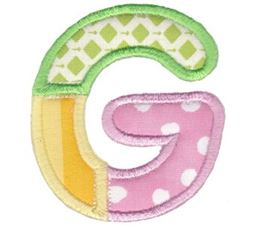 Patches Alphabet Applique G