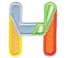 Patches Alphabet Applique H