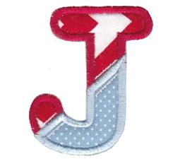Patches Alphabet Applique J