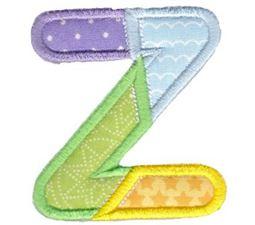 Patches Alphabet Applique Z