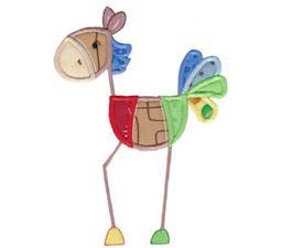 Patchy Horse Applique 5x7 6