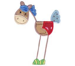 Patchy Horse Applique 5x7 8