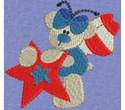 Patriotic Butterfly Bears 3