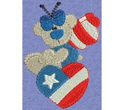 Patriotic Butterfly Bears 4