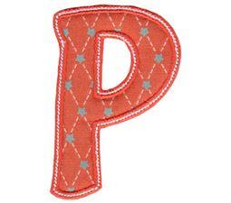 Patty Cake Alpha Applique Capital P