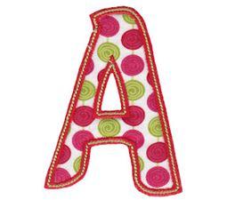 Patty Cake Alpha Applique Capital A