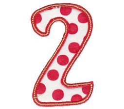 Patty Cake Alpha Applique Number 2