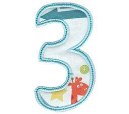 Patty Cake Alpha Applique Number 3