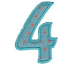 Patty Cake Alpha Applique Number 4