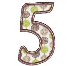 Patty Cake Alpha Applique Number 5