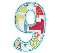 Patty Cake Alpha Applique Number 9