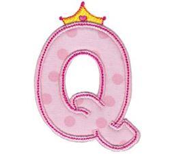 Princess Alpha Applique Q