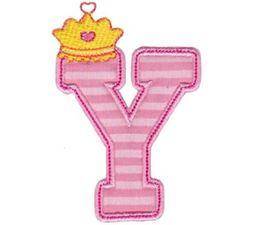 Princess Alpha Applique Y