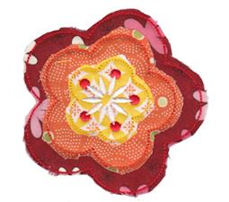 Raggedy Flowers Applique 12