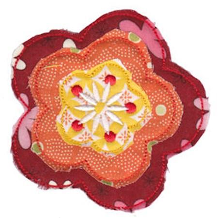 Raggedy Flowers Applique 12