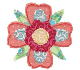 Raggedy Flowers Applique 15