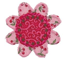 Raggedy Flowers Applique 4