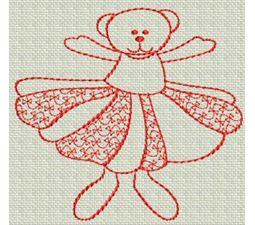 Redwork Bears 11