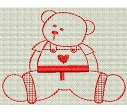Redwork Bears 13