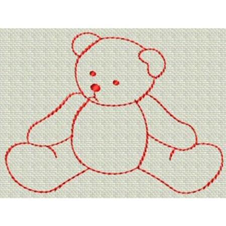 Redwork Bears 14