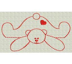 Redwork Bears 8