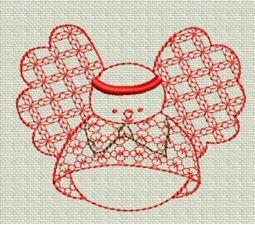 Redwork Christmas 7
