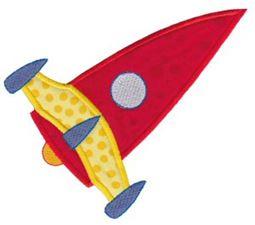 Rocket Ships Applique 7